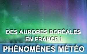 Aurores boréales en France