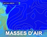 Carte satellite des masses d'air