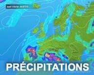 Carte satellite des précipitations