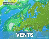 Carte satellite des vents