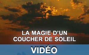 Vidéo sur un coucher de soleil