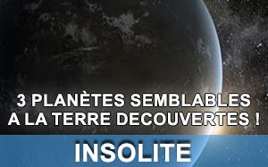 Article sur des planètes semblables à la Terre