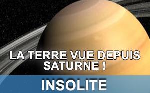 Article sur la Terre vue depuis Saturne